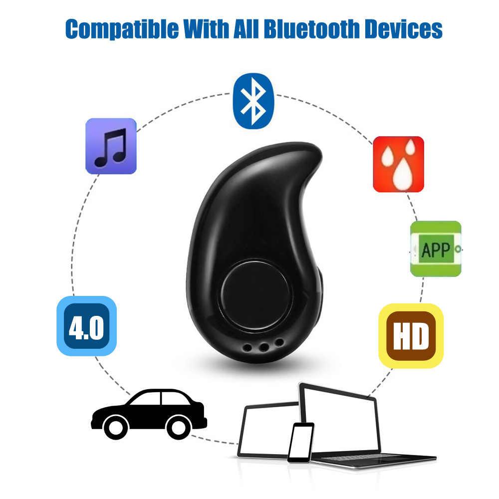 Mini bezprzewodowy zestaw słuchawkowy Bluetooth w ucho sportowe z mikrofonem bezobsługowy zestaw słuchawkowy słuchawki douszne do wszystkie telefony dla Samsung Huawei Xiaomi z systemem Android