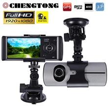 Новый Full HD 1080 P Двойной Объектив Камеры Автомобиля 2.7 «автомобильный ВИДЕОРЕГИСТРАТОР Ночь Vison G-Sensor Микрофон Видео Даш Cam Recorder Регистратор CD014