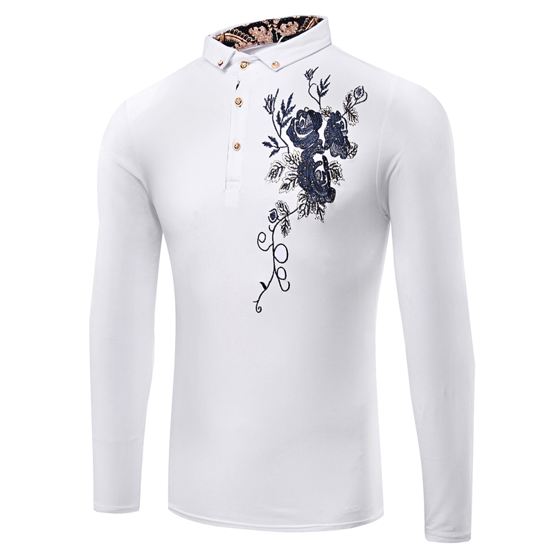 1dc01332c79a1e Amazon Quality 2016 New Fashion Brand Trend Print Slim Fit Long Sleeve T Shirt  Men Tee Casual Men T Shirt Cotton T Shirts-in T-Shirts from Men's Clothing  on ...