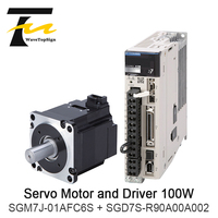 YASKAWA 100W Servo Motor SGM7J 01AFC6S +Driver SGD7S R90A00A002 + Connection Cable 5Meter