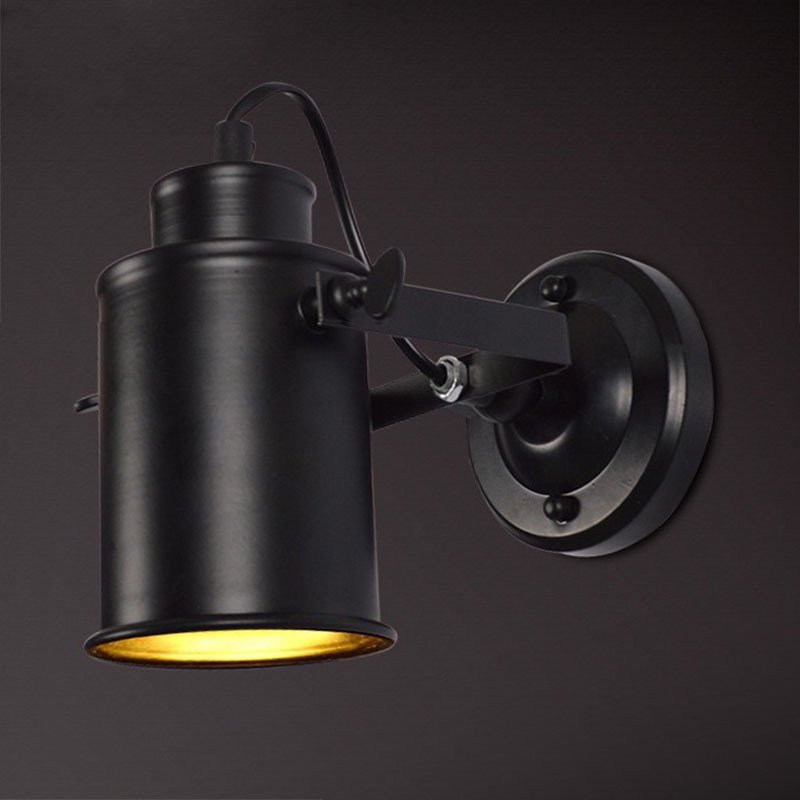 New retro sconce wall lamp light with led bulb for stairs bedroom hallway outdoor led wall light vintage lighting fixtures,black