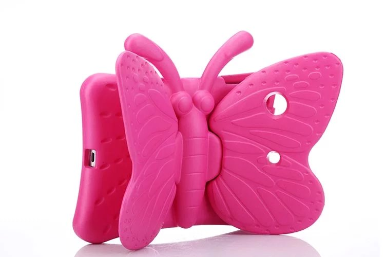 2017 fashion 100% new shockproof eva for ipad mini 1 2 3 children safe 3d cartoon of the butterfly Cover Stand for iPad mini