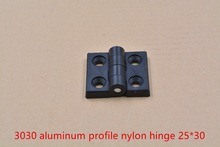3030 aluminum profile plastic nylon joint section connector door and window hinges 25×30