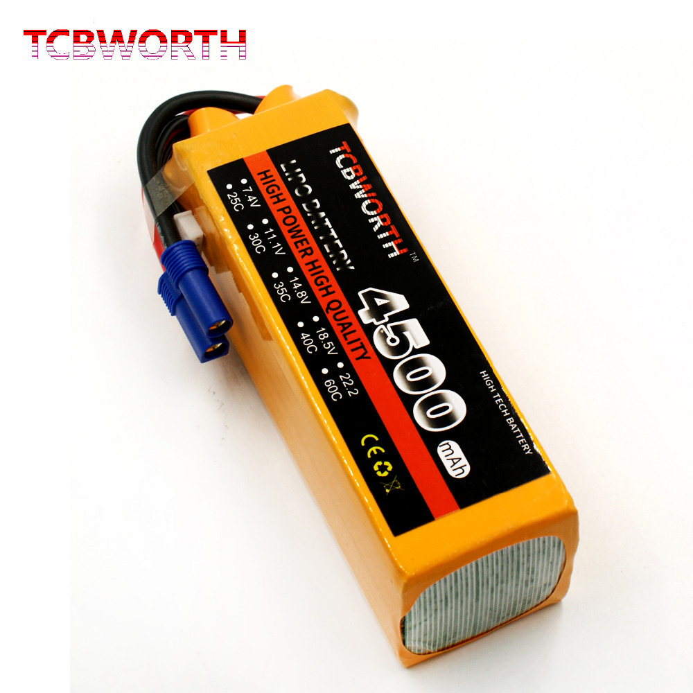 TCBWORTH 6S 22.2V 4500mAh 60C RC Helicopter LiPo battery For RC Airplane Quadrotor AKKU Car Truck Li-ion battery tcbworth rc drone lipo battery 7 4v 5000mah 35c 2s for rc airplane quadrotor helicopter akku car truck li ion battery