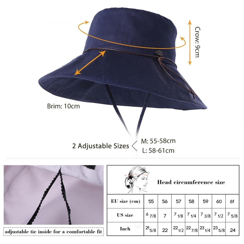 SIGGI Summer Sun Hats For Women Linen Waist Strips Decoration Wide Brim  Adjustable Windproof Gorras Bucket Hats Female 99024-in Sun Hats from  Women s ... c73bbfd8994f