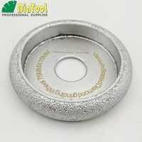 DIATOOL 3 pcs Dia75mm Vacuum Soldadas Diamante CONVEXO Roda/Roda do Perfil De Pedra Artificial Pedra Ceremics Concreto Vidro ....
