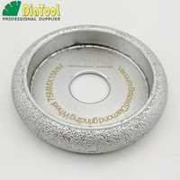 DIATOOL 3 pz Dia75mm Vuoto Brasato Del Diamante CONVESSO Ruota/Ruota Profilo Per La Pietra Artificiale Pietra Ceremics di Vetro Cemento ....