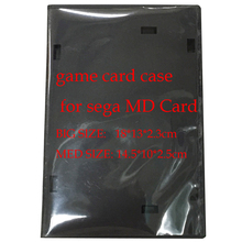50pcs a lot for 16 bit game card case plastic box for sega MD Card cartridge Packing Case Black