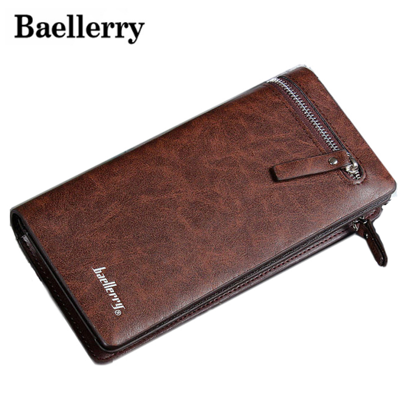 Baellerry Long Phone Luxury Brand Male Card Holder Men Wallet Purse Clutch Handy Carteras Walet Bags Cuzdan Money Fashion Vallet document for passport badge credit business card holder fashion men wallet male purse coin perse walet cuzdan vallet money bag