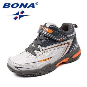 Image 2 - BONA החדש סגנון ילדי נעליים יומיומיות תחרה עד בנות נעלי סינטטי בני דירות חיצוני אופנה סניקרס נוח משלוח חינם