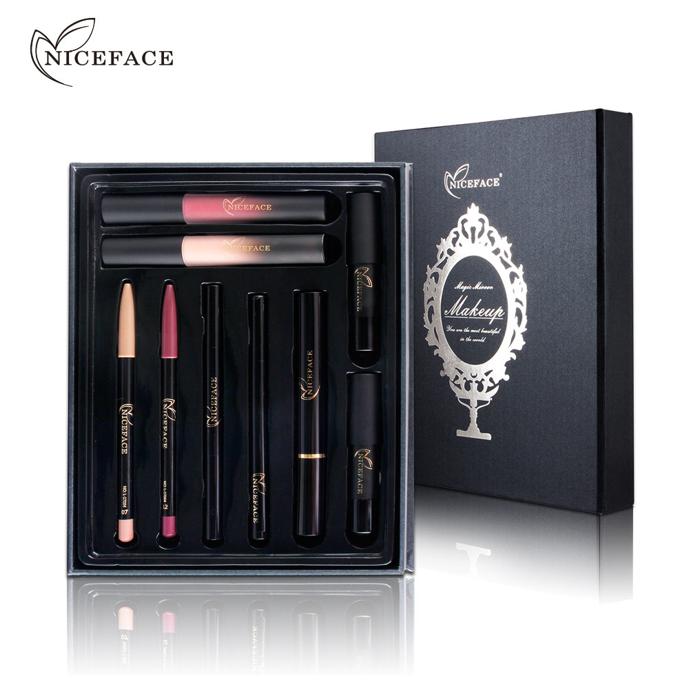 Best Deal Professional Christmas Gift for Women Beauty Makeup Eye Lip Gloss Set Waterproof Sexy Hydrating Lasting Lipsticks