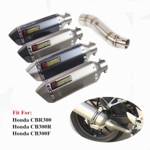 CBR300 CB300F Motorcycle Exhaust System Middle Mid Link Pipe Slip On Tip Muffler For Honda CB300R