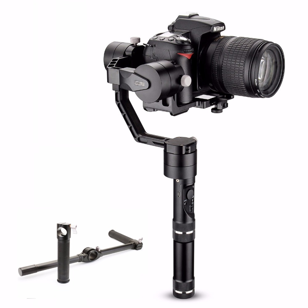 Zhiyun Crane V2 axle Handheld Stabilizer 3-axis gimbal with Dual Handle for DSLR Canon Cameras Support up to 1.2KG afi vs 3sd brushless handheld 3 axle steady gimbal stabilizer for canon 5d 6d 7d sony for gh4 dslr cameras vs zhiyun feiyu tech