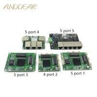 Interruptor Ethernet Industrial de módulo 5 puertos Unmanaged10/100/1000 mbps de PCBA placa OEM Auto-detección puertos PCBA junta del OEM de la placa base