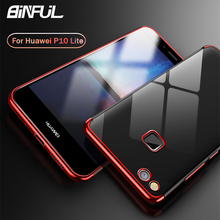 For Huawei P10 Lite Case Cover Luxury Transparent TPU Soft Silicone Slim Back Cover For Huawei P10 P10Lite Case Phone Coque цена 2017