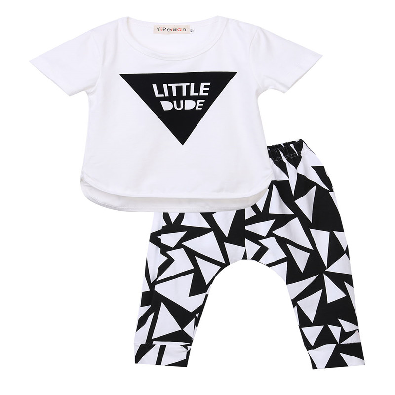 dd4beac8417d Newborn Baby Boy Clothes Baby Boy Letters Printed Funky Clothes Set Summer  2 Piece Top Pants Outfits-in Clothing Sets from Mother   Kids on  Aliexpress.com ...