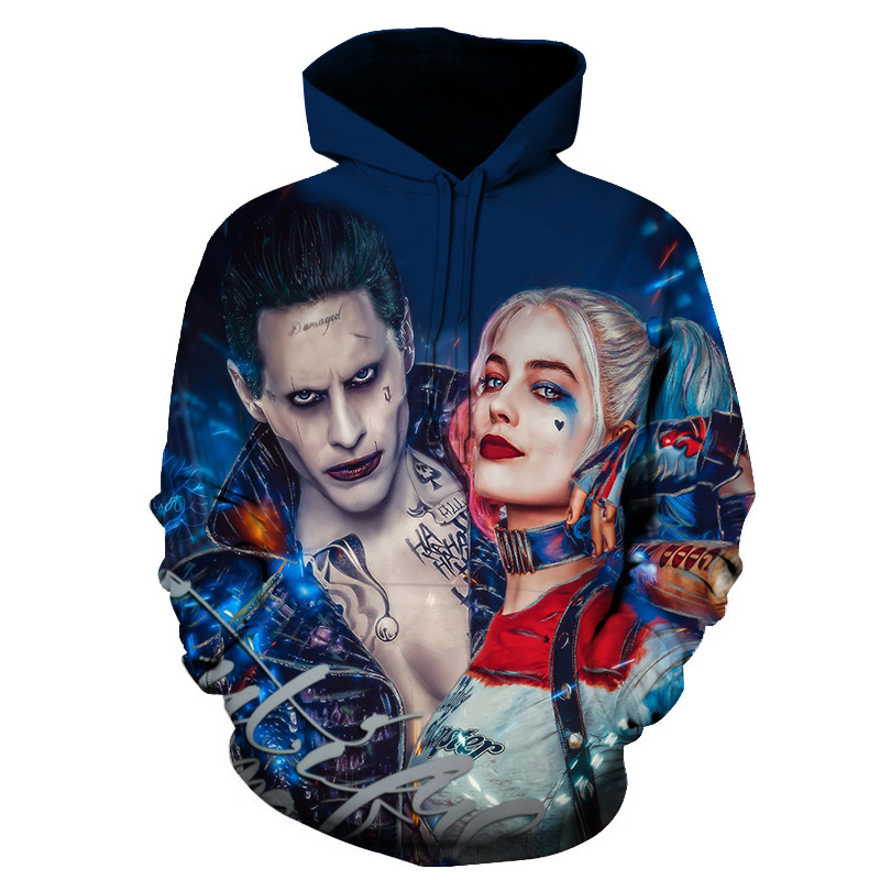 Suicide Squad Clown Cosplay Autumn Men and women Costumes Sakata Gintoki 3D Full Print  Hoodies Sweatshirt Spring Streetwear