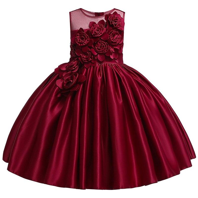 HTB1vikAbjDuK1Rjy1zjq6zraFXaA Kids Dresses For Girls Elegant Princess Dress Christmas Children Evening Party Dress Flower Girl Wedding Gown vestido infantil