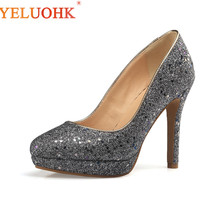 33 43 Extreme High Heels Big Size Platform Shoes Women Heels 11 CM Women Pumps