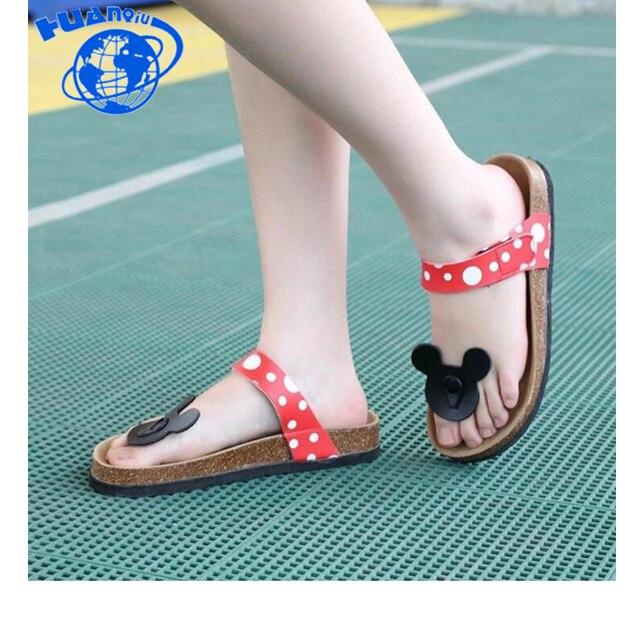 HUANQIU Yaz Ayakkabı Kadın Sandalet Mujer Flip Flop Kadın Mantar Terlik Bayanlar Kızlar Düz Sandalet plaj ayakkabısı Artı Wyq126