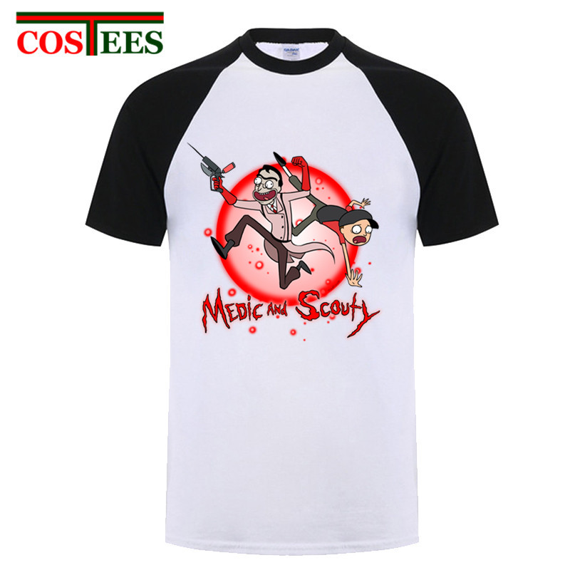 ab6b8797 Product name: Funny Ricka and morty tshirt anime mens t-shirt Medic and  Scouty t shirt homme rick morty tee shirt camisetas masculino 2018 NEW