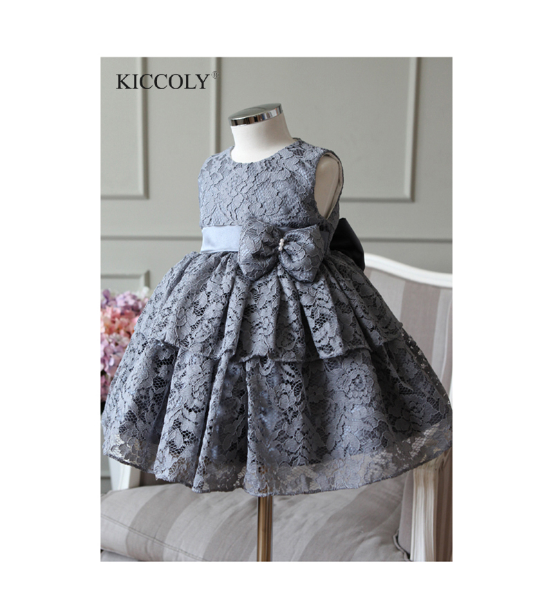 2017 New Summer Girl Princess Dress 2T-12T Lace Tutu Birthday Baby Girl Dresses Moderator Piano Performance Dress For Girls moderator