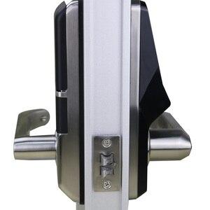 Image 3 - อิเล็กทรอนิกส์ลายนิ้วมือประตูล็อคดิจิตอลสมาร์ทประตูปลดล็อคโดยลายนิ้วมือ,รหัส,การ์ด, และกุญแจ 2 ใบ