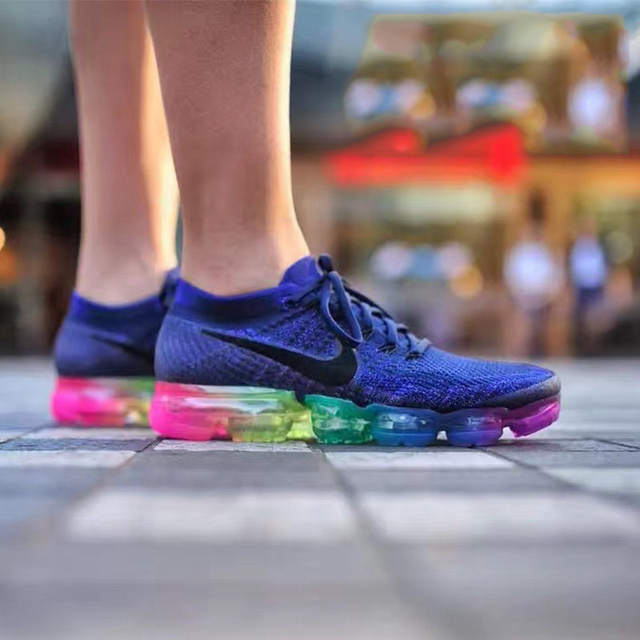 new product e0f85 4f05b US $66.88 44% OFF|Original Nike Air VaporMax Be True Flyknit Breathable  Men's Running Shoes Sports 2018 New Arrival Sneakers Outdoor Rainbow-in ...