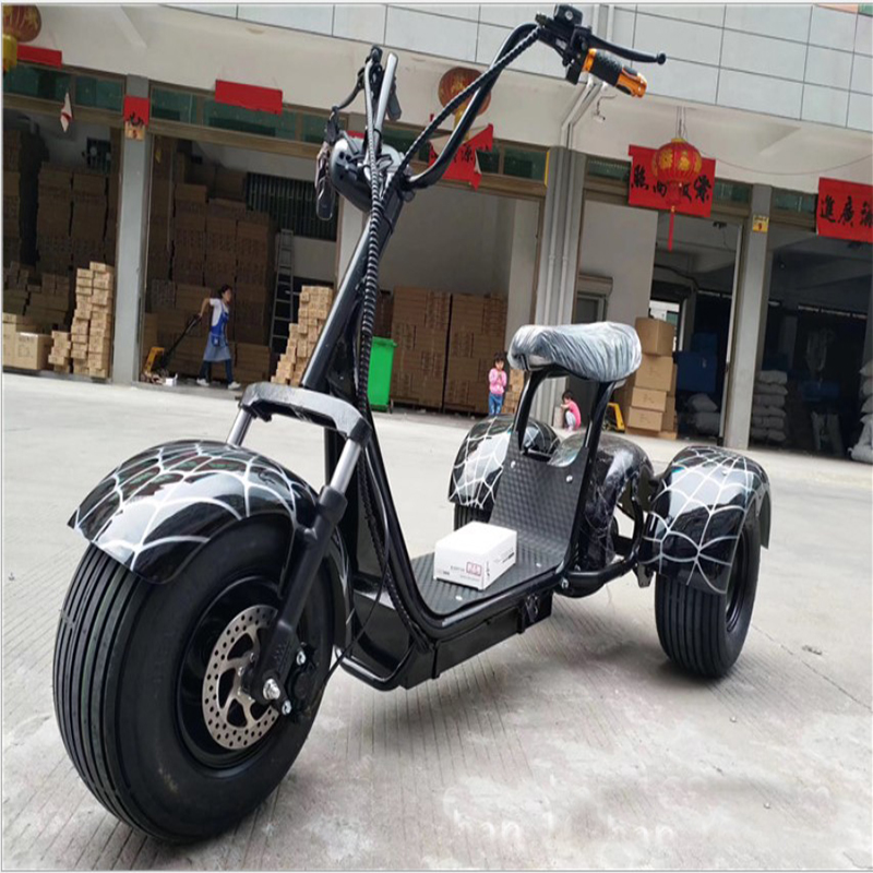 Motorcycle Electric Bike Citycoco Scooter Three Wheels Motor 1500w Lithium Battery 12a Fast Charge