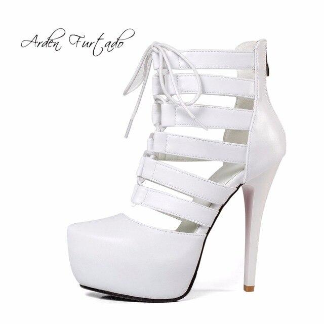 f8b5c03a Arden Furtado mujeres nuevo verano de 2018 sexy tacones altos 13 cm gladiador  sandalias de plataforma