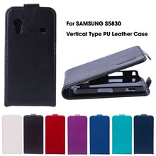 Vertical Magnetic Flip Leather Case For Samsung Galaxy Ace S5830 S5830I GT-S5830i 5830 3.5 inch Case Cover Housing Shell