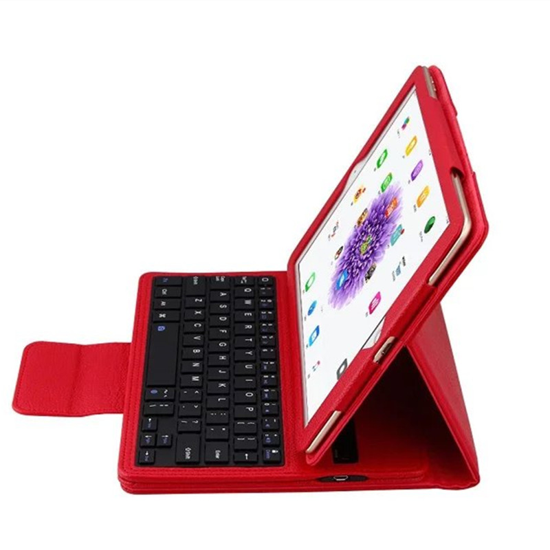 For Apple ipad pro 9.7 Multifunction Removable Wireless Bluetooth Keyboard Case For ipad pro 9.7 2016 Tablet free shipping