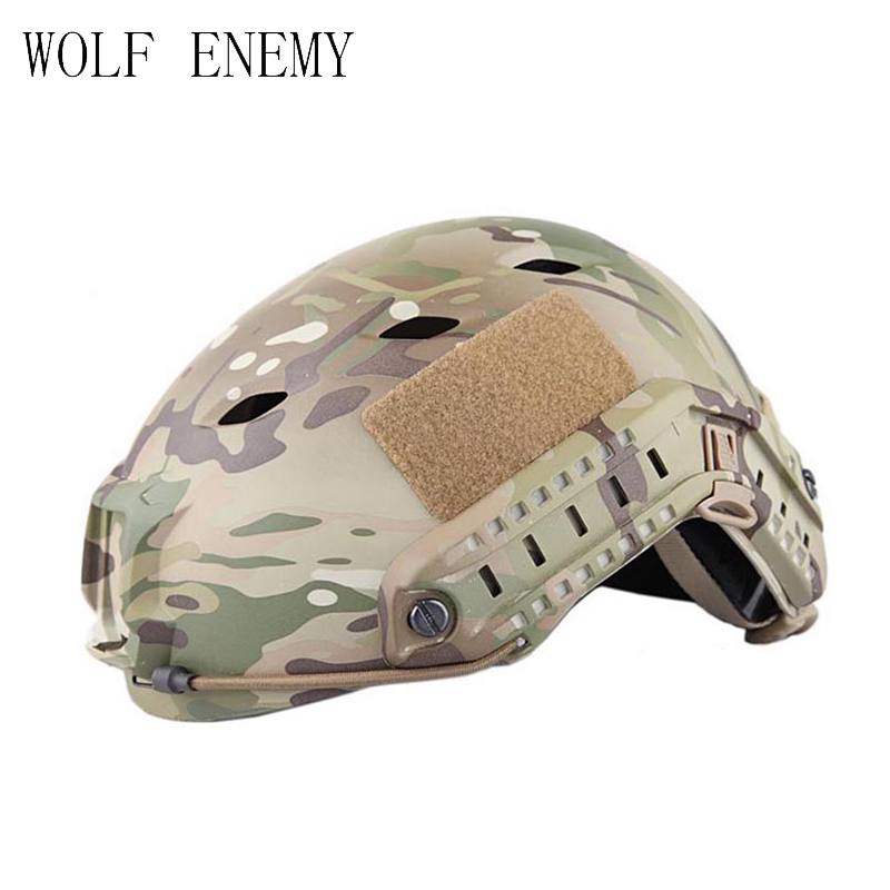 Tactical Gear FAST HELMET BJ TYPE US Navy Customised Version BJ TYPE Base Jump Military Airsoft Combat Helmet fast helmet with protective goggle bj type helmet military airsoft helmet tactical army helmet paintball motorcycle ride fast