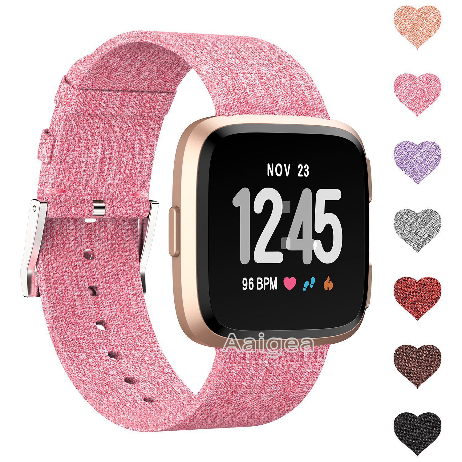 Woven Fabric Watch Strap Band for Fitbit Versa Fitness Smart Watch Quick Release Classic Buckle fashion nylon Wrist band strap все цены