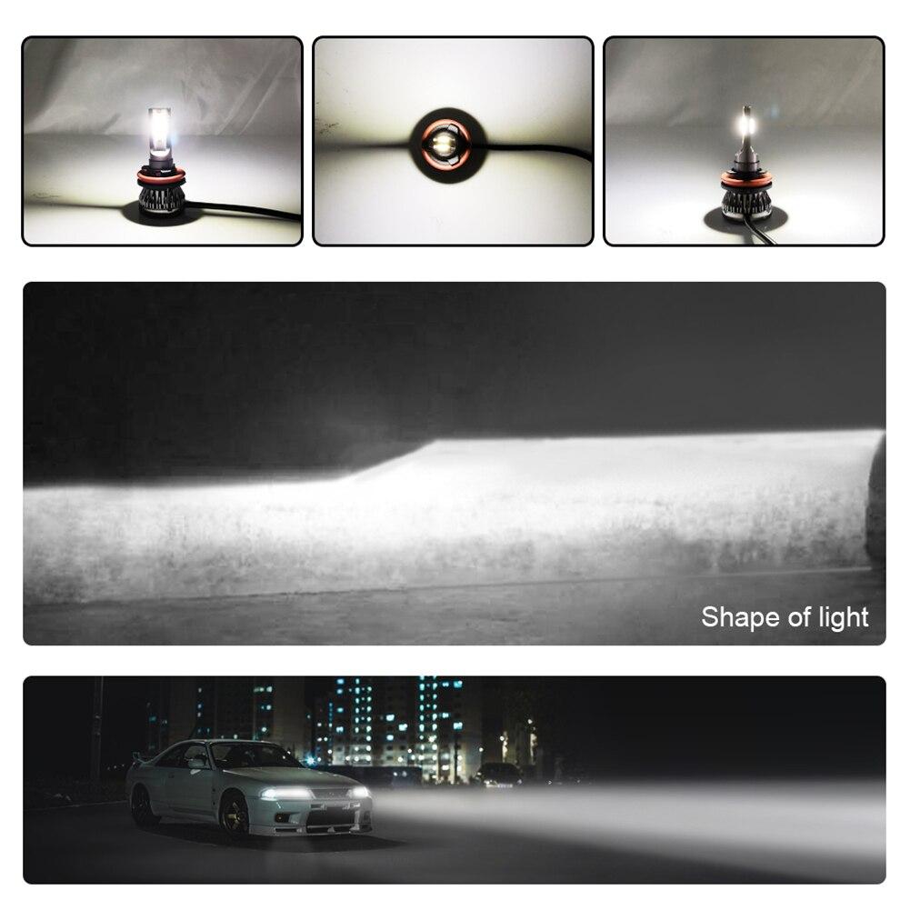 Image 5 - 2 個車のヘッドライトランプ H7 H8 H11 LED 電球 H1 H4 HB2 LED ヘッドランプ 9005 HB3  9006 HB4 6000 ション [6000k フォグライト 12V 6000LM LED ランプ 36 ワット     グループ上の 自動車
