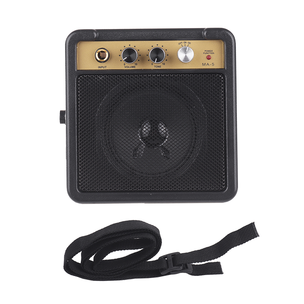 electric amplifier for guitar amp speaker 5w with input 1 4 inch headphone output. Black Bedroom Furniture Sets. Home Design Ideas