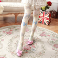 Thin section of the velvet Harajuku series Butterfly retro spring silk stockings Girl personalized tights