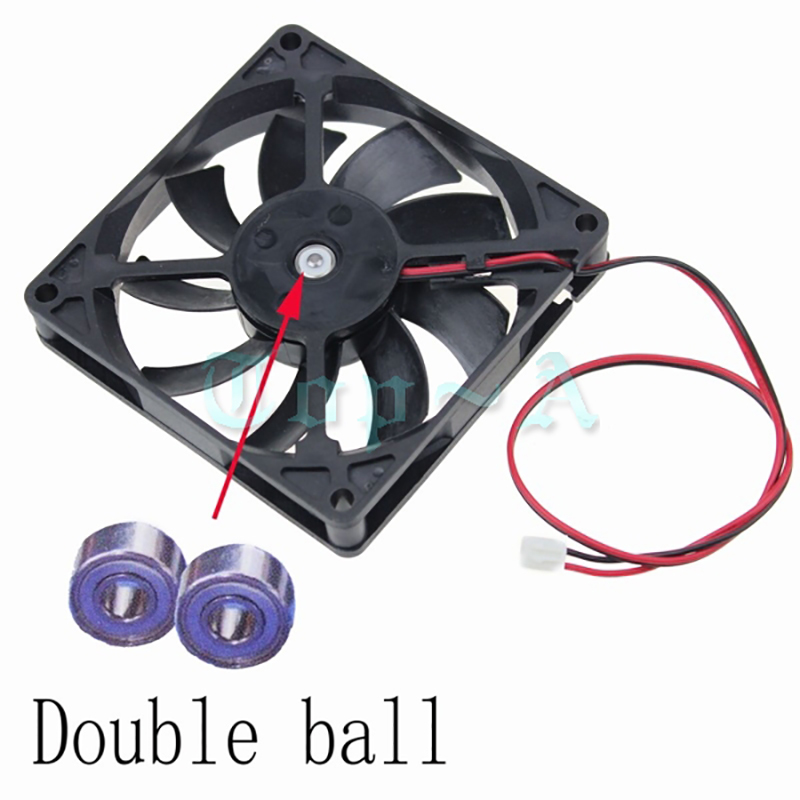 Gdstime 1 Piece DC 12V 80mm x 15mm Dual Ball Bearing PC Case DC Cooling Fan 80x80mm 8cm 8015 Mute Radiator Cooler 2 Pin 4 in 1 multifunction charging dock station cooling fan external cooler dual charger for xbox one controllers s game console