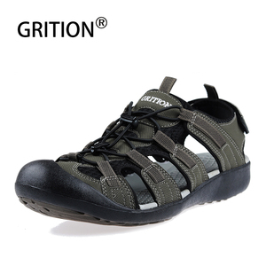 Image 2 - GRITION קיץ נעלי גברים חוף סנדלי כובע הבוהן זכר לסתום עיצוב באיכות מזדמן נוח אופנה נעלי ספורט גדול גודל 46 2020