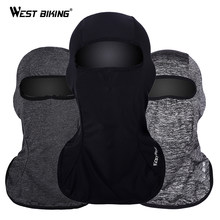 WEST BIKING Breathable Thin Cycling Face Mask Ice Fabric Cool Balaclava Anti-UV Windproof Road MTB Bike Mask Bicycle Face Mask(China)