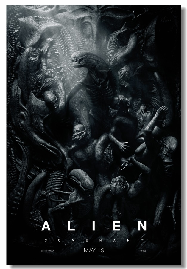 Custom Canvas Wall Decor Aliens Poster Alien Covenant Wall Stickers Office Mural Bedroom Wallpaper Living Room Decoration #0200#