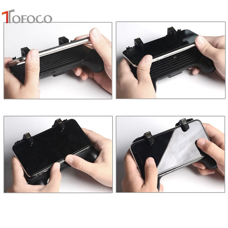 Image 5 - Mobile Game Controller Cooling Pubg Controller Gamepad Pubg Mobile Trigger L1R1 Shooter Joystick Holder with 2000MAH Power Bank-in Gamepads from Consumer Electronics