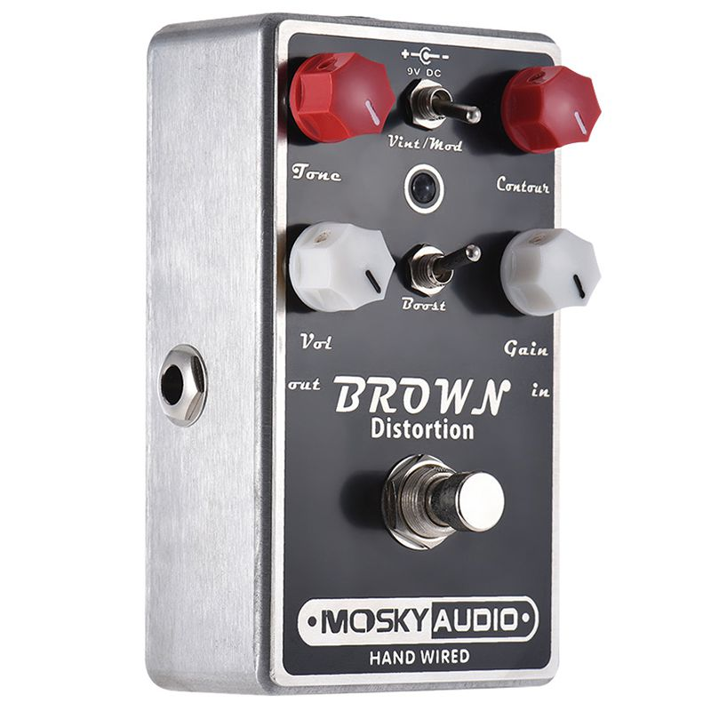 MOSKY BROWN High-quality Distortion Guitar Effect Pedal Full Metal Shell True BypassMOSKY BROWN High-quality Distortion Guitar Effect Pedal Full Metal Shell True Bypass