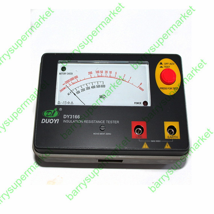 Resistance Tester Meter DY3166 1000V Analogue Insulation Tester Resistor Meter Pointer clearaudio professional analogue toolkit