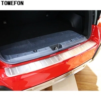 TOMEFON Auto Accessories For Subaru XV GT3 GT7 2017 2018 Stainless Steel Rear Bumper Cover Frame Trim Car Styling 1Piece/Set