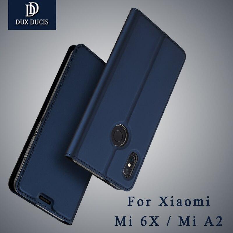 Pour Xiao mi rouge Mi note 5 Pro en Cuir Flip Cas Pour Xiao mi Mi 6X portefeuille couverture de TÉLÉPHONE Pour xiao mi mi A2 mondial VERSION Double Caméra