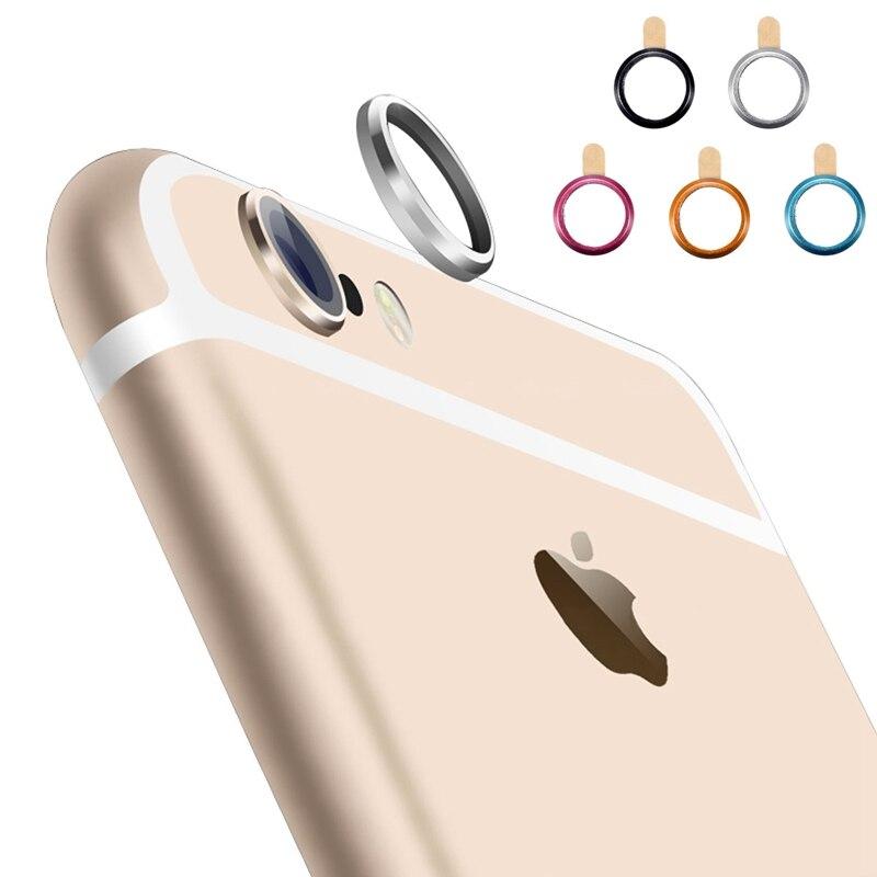 Mobile Phone  Camera Guard Circle Lens Film Protector Anti-Scratch For Apple Iphone 6 6s Plus 6splus E Camera Ring Bumper