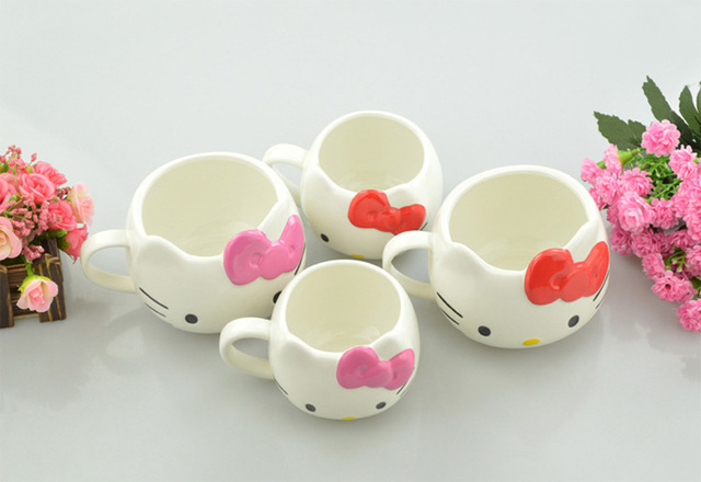 Hot Funny Cat Tea Cups and Coffee Mugs For Home and Office, Hello Kitty Mugs As Christmas Gift For Daughter Girl Friend 4
