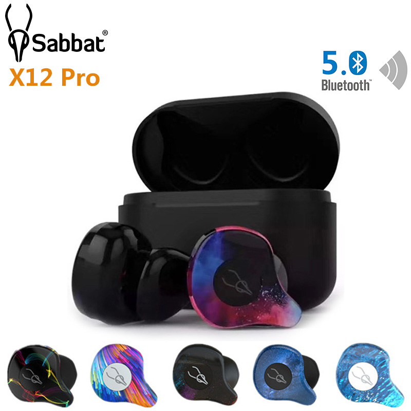 Sabbat X12 Pro TWS Bluetooth 5.0 sans fil écouteur stéréo HiFi in-ear Mini écouteurs 750 mAh suppression de bruit avec micro boîte de charge