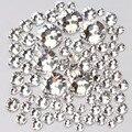 1000 pc/pacote Misturar o Tamanho (ss3 ss4 ss5 ss6 ss8 ss10 ss12 ss16) não Hotfix Cristal De Vidro Transparente Para Nail Art Natator Pedrinhas